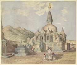 Buddhist Temple, called 'Chillundeo' nr Kirtipore. March 1854